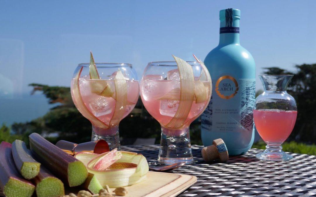 Rhubarb Blush Mocktail