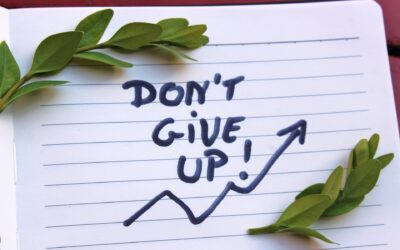 Don't give up! Ditch the shame & Blame