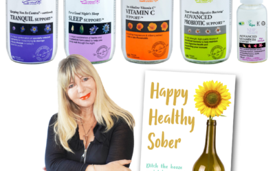 Win a signed copy of Happy Healthy Sober & sober supplements worth £112